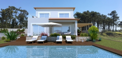 Detached new-built villas with pool